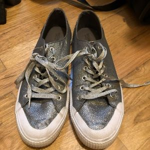 Mossimo gray SPARKLY sneakers from target